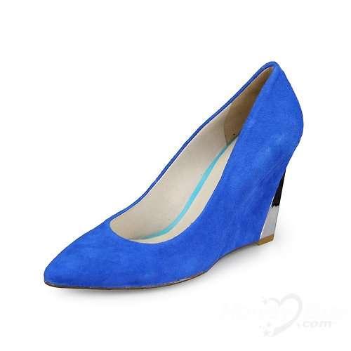 Wedge Royal Blue Tip Binding Rubber Sole High Heel: Blue Wedges, Blue Tips, Royals Blue, Royal Blue