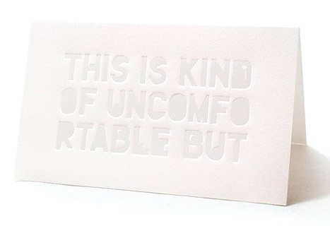 No me toques las Helvéticas | Blog sobre diseño gráfico y comunicación: Tarjetas para los momentos incómodos