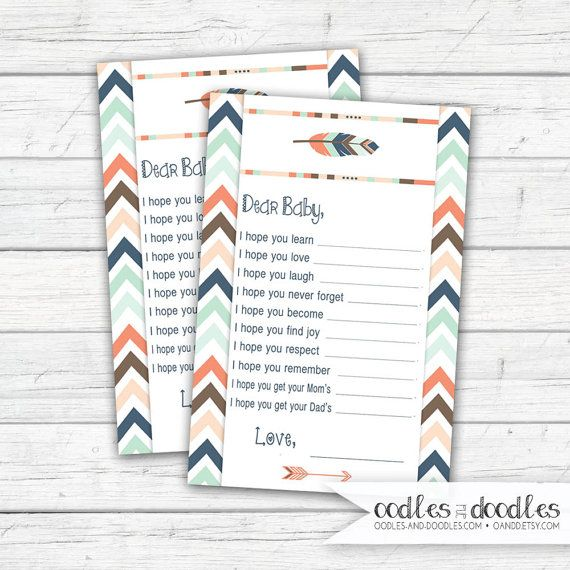 Tribal Baby Shower, Baby Wish Cards | Shower Games | | Boho Shower | Gender Neutral Shower  Ideas | Tribal Party | Oodles and Doodles, OandD