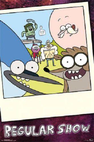 Regular Show - Mordecai & Rigby 22x34 Poster Tv Art Print Cartoon Network @ niftywarehouse.com