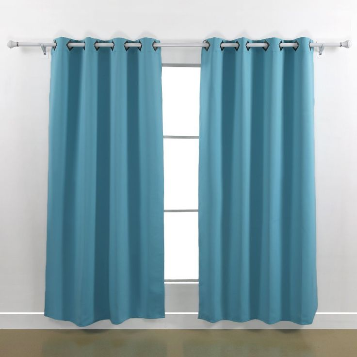 Deconovo Thermal Insulated Blackout Curtains 52 By 84 Inch Two Panels Teal