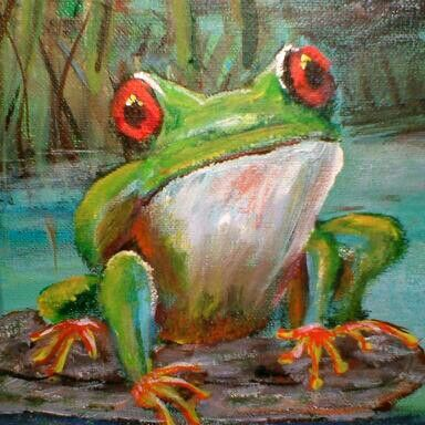 19 best images about Frog Paintings on Pinterest ...