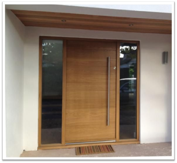 25 best ideas about modern wooden doors on pinterest for Modern front door lights