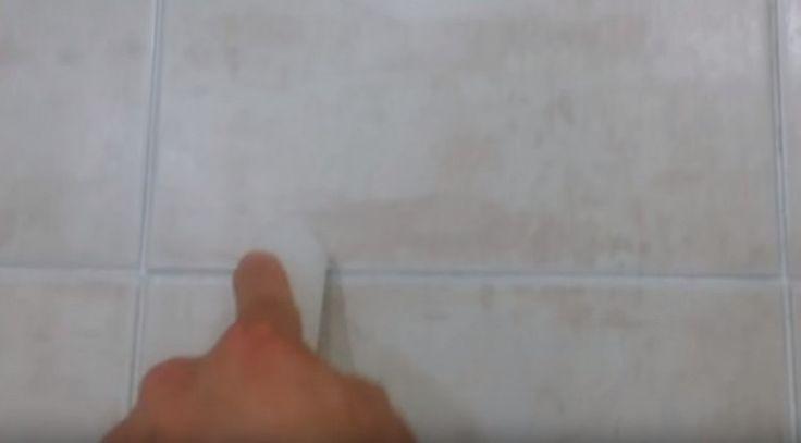 paso a paso- limpiar juntas de azulejos