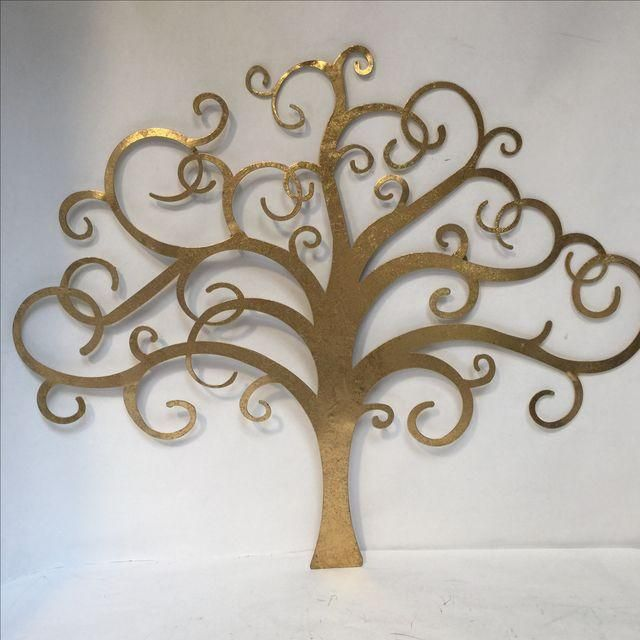 Image of Gold Tree Wall Art