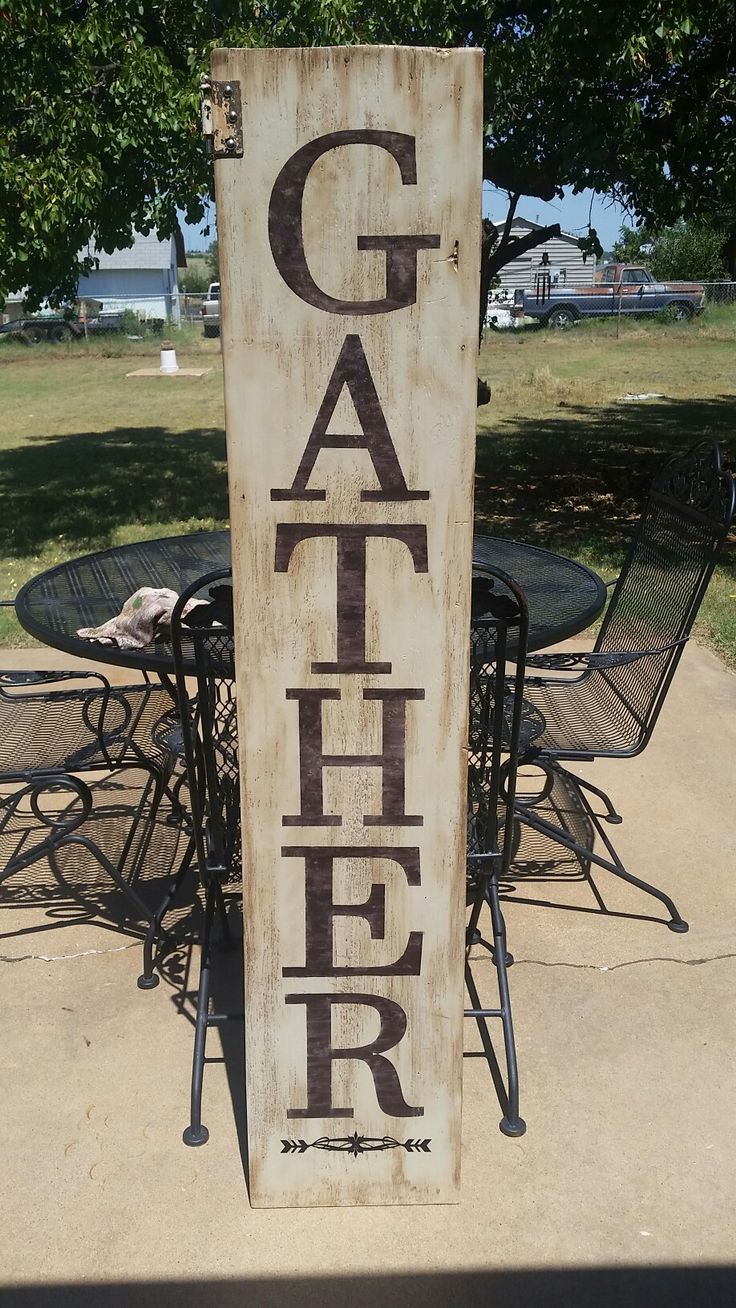 Porch signs welcome my porch barn wood quot what happens on the porch - 5 Ft Tall Front Porch Sign Accented With Old Rusted Hinge Perfect For Fall Porch