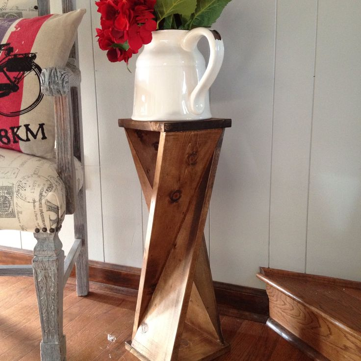 How to make an easy Farmhouse Side Table with storage for diapers...or anything else you may want to hide!