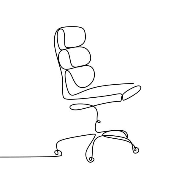 Continuous Line Drawing Of The Work Chair Chair Relax One Png And Vector With Transparent Background For Free Download In 2020 Continuous Line Drawing Line Drawing Line Art Drawings