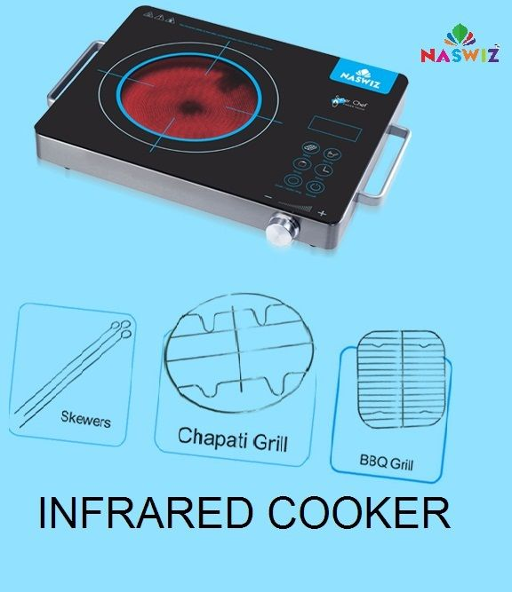 Enjoy Carbon Free, Radiation Free & Hassle Free Healthy Cooking with INFRARED COOKER. It Cooks faster in Comparison With Gas Cooking. Shop Now: https://www.myshopwiz.com/myshop/home-appliances.aspx #naswiz