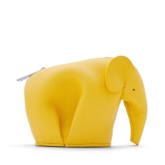 ロエベ 革小物 - ELEPHANT PURSE イエロー