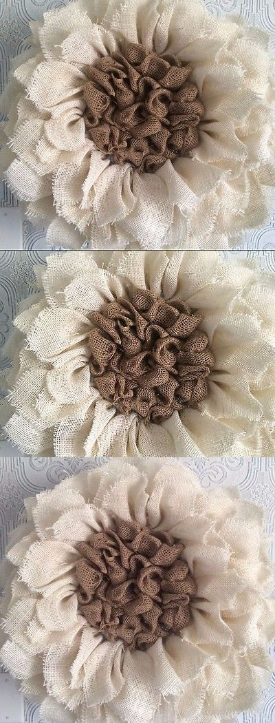 Easter and Spring 170093: Fall Wreath Creme Sunflower Burlap Wreath Flower -> BUY IT NOW ONLY: $45 on eBay!