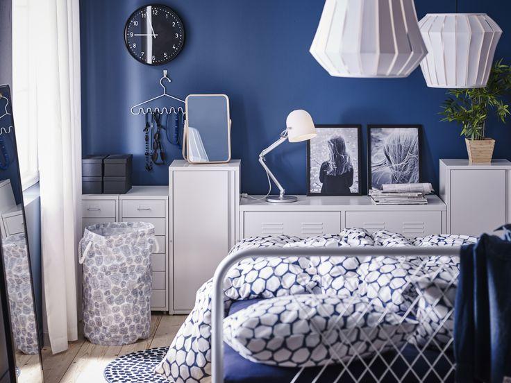 NESTTUN bedframe | #IKEA #IKEAnl #industrieel #strak #staal #bed #tweepersoons #slaapkamer #styling #inspiratie