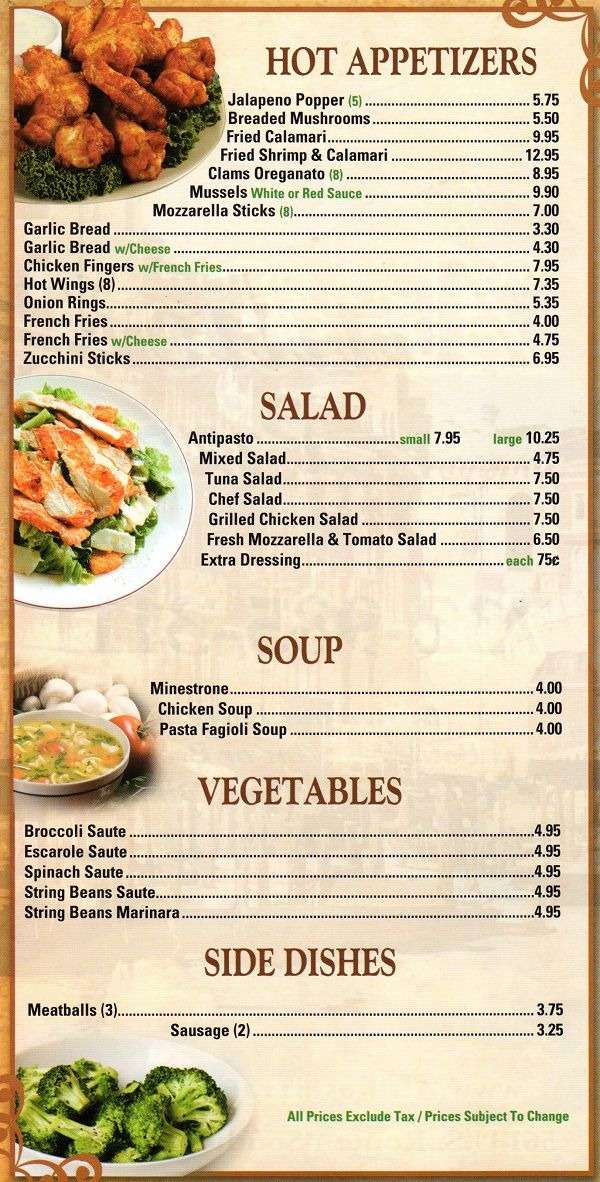 Best Menu Italian Images On   Print Templates