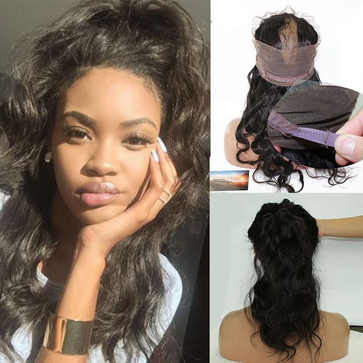 360 Lace Frontal Closure With 3Pc Brazilian Remy Hair Weft Bundles Body Wave