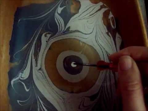 marmorizzazione con colori acrilici. Disegnare sull'acqua tutorial - YouTube