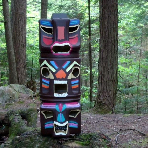 Coffee Cans Or Containers Are Recycled, Upcycled And Repurposed To Make  These DIY Tiki Statues