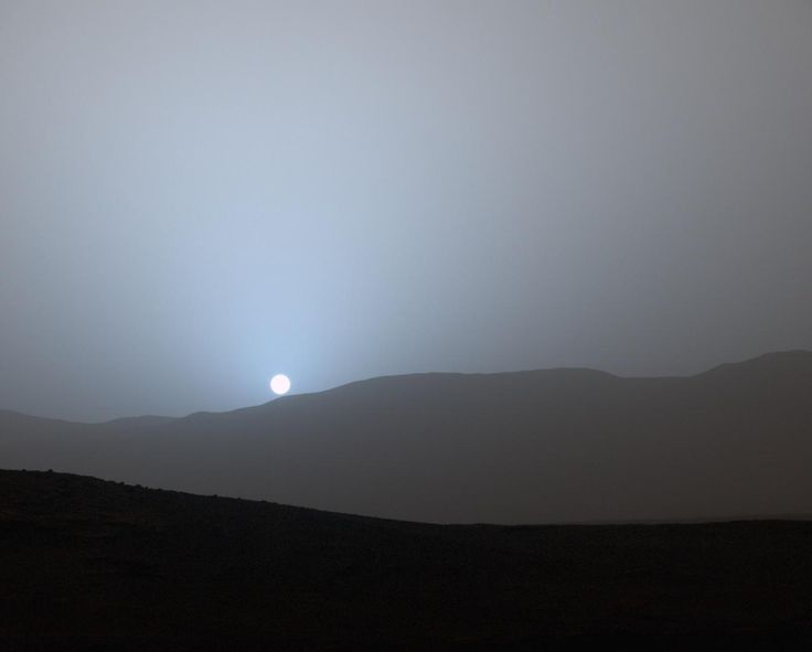 NASA's Mars rover Curiosity captured this image of a Red Planet sunset on April 15, 2015.<br />