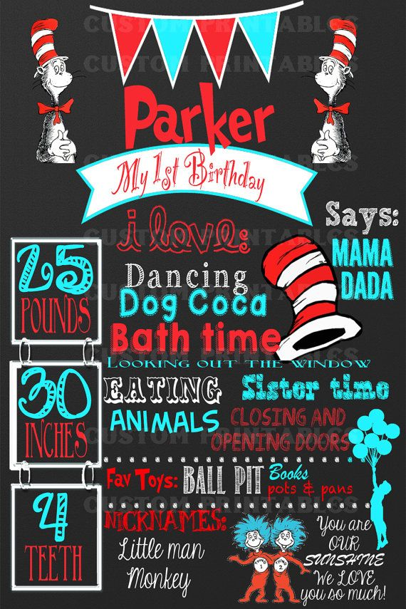 23 best DIY Dr Seuss Printables for birthdays etc images on