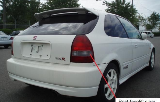Rear White Jpg Honda Civic Type R Honda Civic 2000 Honda Civic