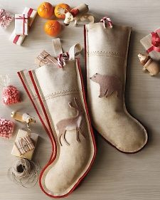 Wool Woodlands Stocking | Martha Stewart I know Christmas stockings aren't really