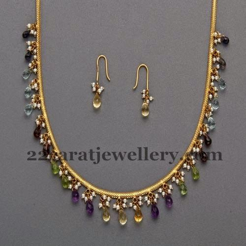 Simple Jewelry with Tanzanite Drops