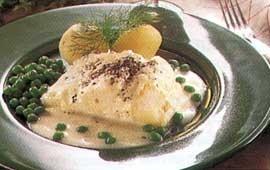 Lutfisk med skånsk senapssås