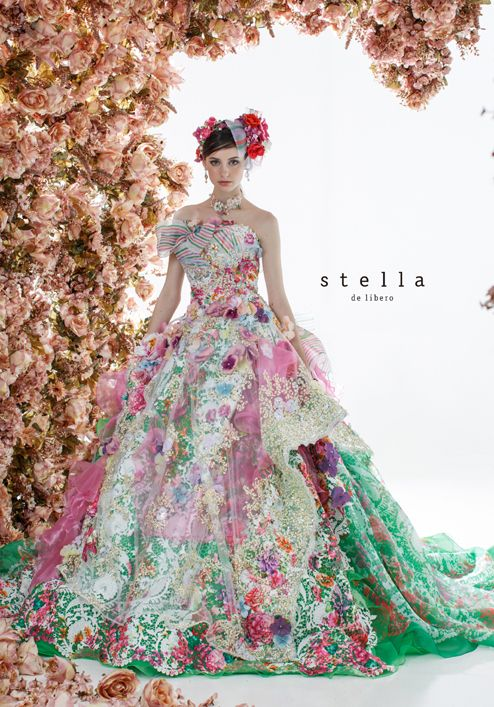 dball~dress ballgown - I don't care for the ribbon on the bust, but I LOVE the colors!