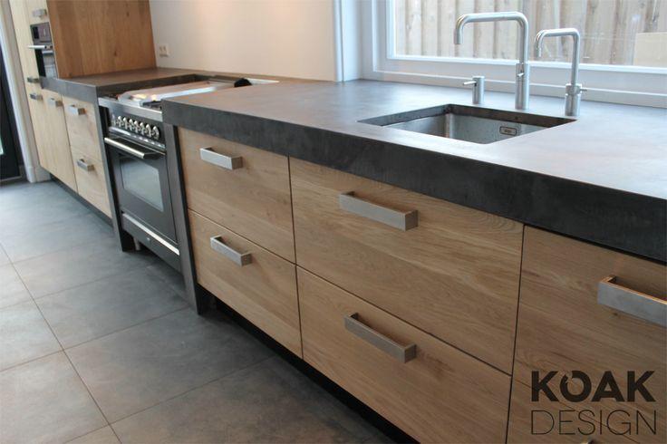 Keuken hout zelf maken google zoeken uitbouw pinterest s k - Moderne keuken muurdecoratie ...