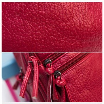 Women Casual PU Leather Chest Bags Shoulder Bags Crossbody Bags - US$16.60