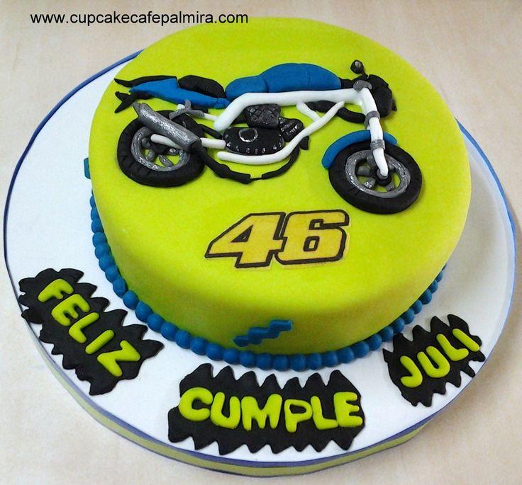 Torta Moto Valentino Rossi Motorcyclecake Cupcake Cafe