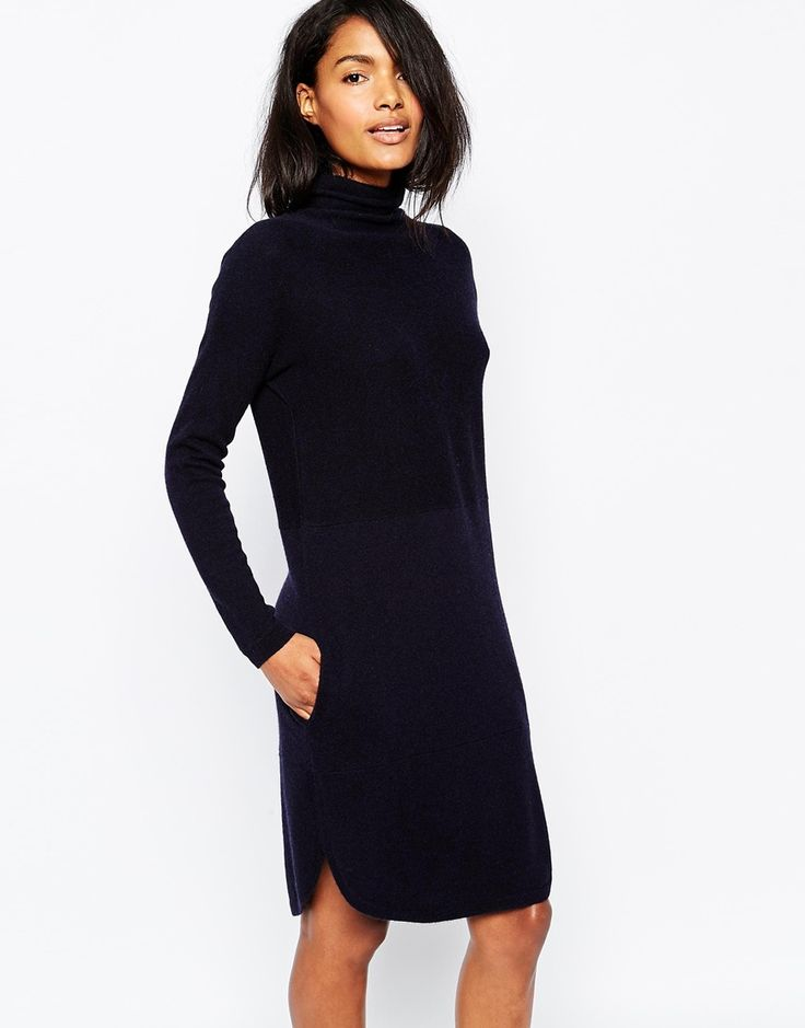 Image 1 of Whistles Soft Funnel Neck Cashmere Dress