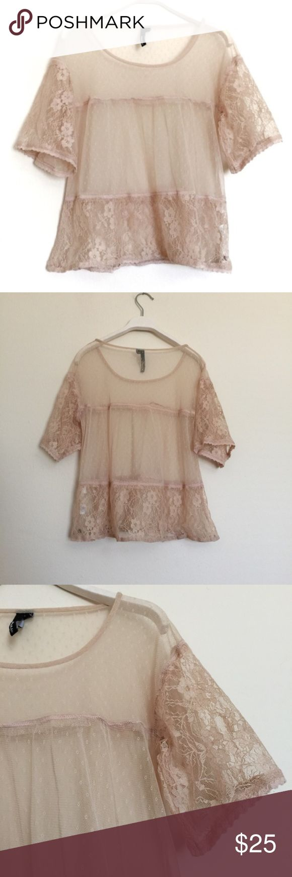"""O'Neill cream lace sheer swim coverup blouse Small O'Neill cream lace sheer swim coverup blouse, excellent condition. Lace coverup blouse in a cream color. Delicate floral lace sleeves and hem, romantic feel with pleats. Pit to pit 19"""", length 20"""". O'Neill Swim Coverups"""