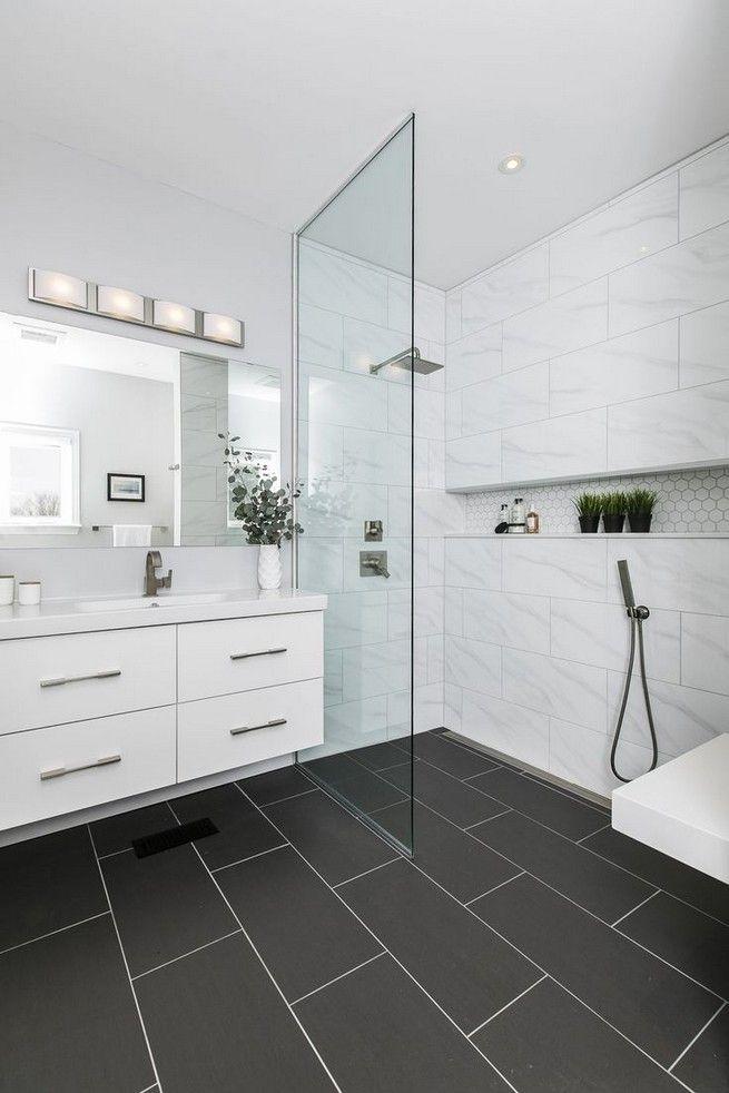 Bathroom Ideas Black And White Floor 18 Black Tile Bathrooms Black Bathroom Floor Bathroom Interior Design