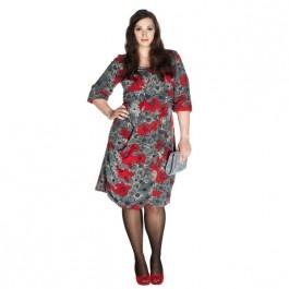 Stijlvolle asymmetrische jurk - XL Een mooi vallende jurk diet naar onder toe iets gerend uit loopt en met een bijzondere asymmetrische flap.