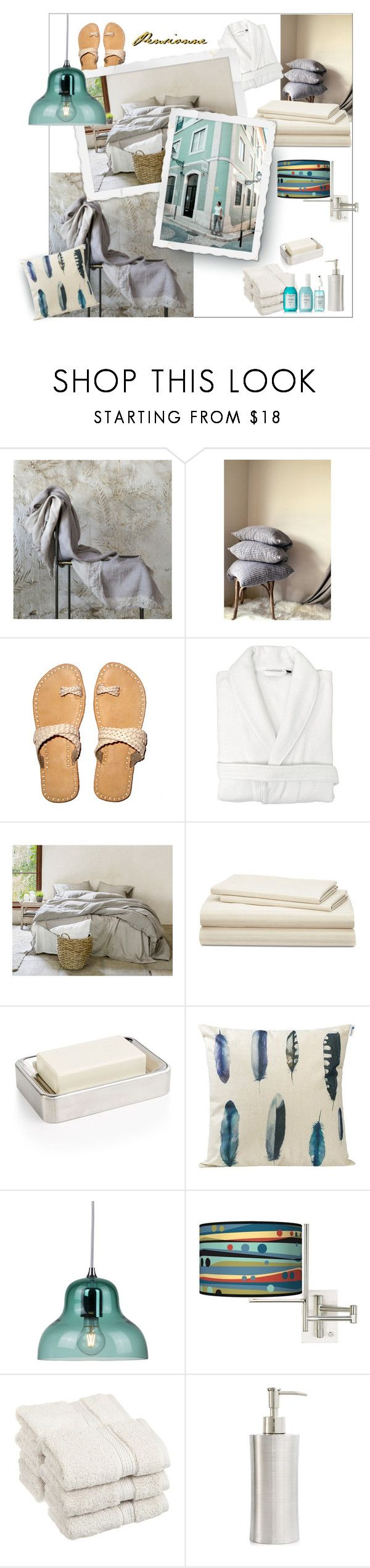 Pensionne linen hotel bedding by onenakedewe ❤ liked on polyvore featuring interior