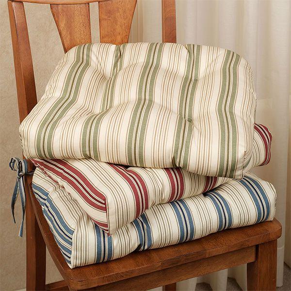 Kimberly Stripe Chair Cushion Set Of 2 Kitchen Chair Cushions Chair Cushions Dining Room Chair Cushions Chair cushions for kitchen chairs