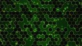 patchwork : Scrollen Hexagon Background Animation - Wiederholungs Grün