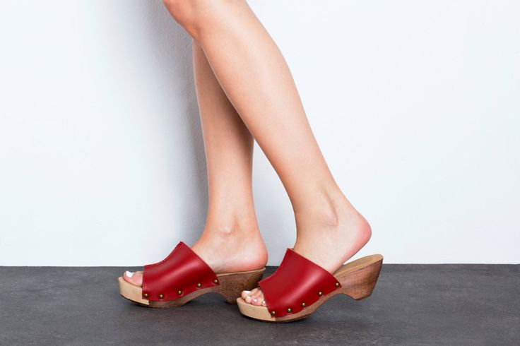 50% OFF Summer Clogs. Red clogs Red Wooden Mules - Red Wooden Sandals.Summer Shoes. Mule Clogs - Handmade by ImeldaShoes