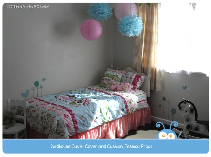 Birdhouse Duvet Cover by Jessica Prout.  Vote for Jessica if you think this is the best kids room!