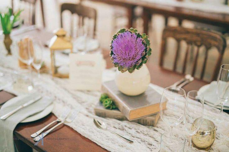 Gorgeous artichoke flowers #weddingflowers #purple www.ido4u.co.za