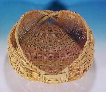 Vintage Woven POTATO BASKET / EGG GATHERING BASKET in COLOR - Simply Baskets