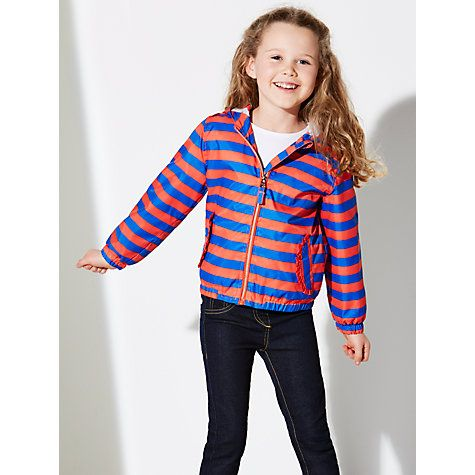 Stripe Bomber Jacket, Red/Blue Online at johnlewis.com £28