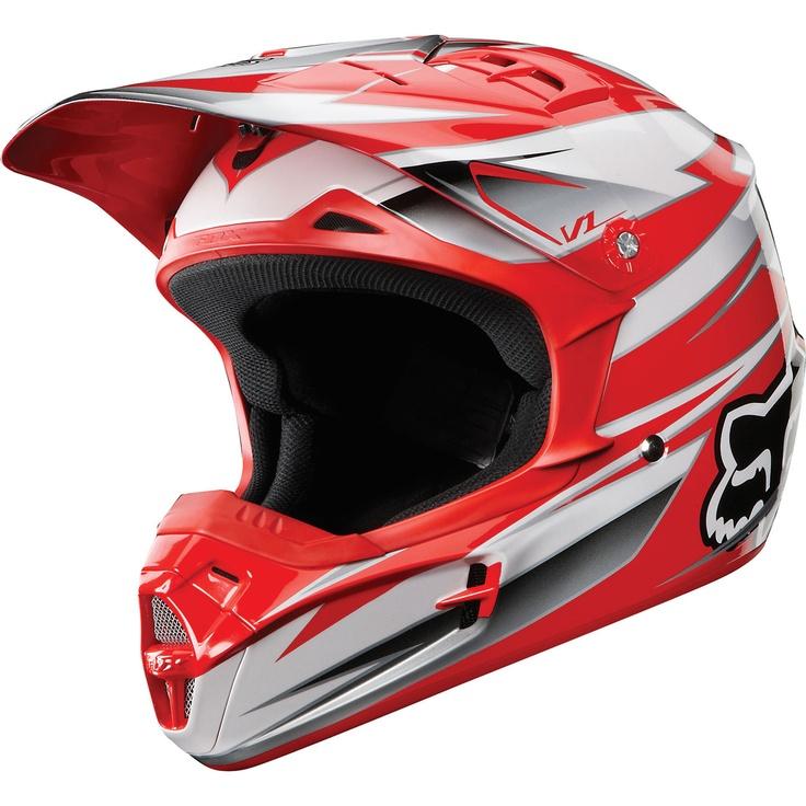 Capacete Fox V1 Race - Com muita atitude, o gráfico do capacete fox V1 Race está pronto para 2012 - R$522.40 com Frete Grátis