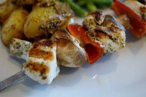 Kylling marineret med wasabi og tang