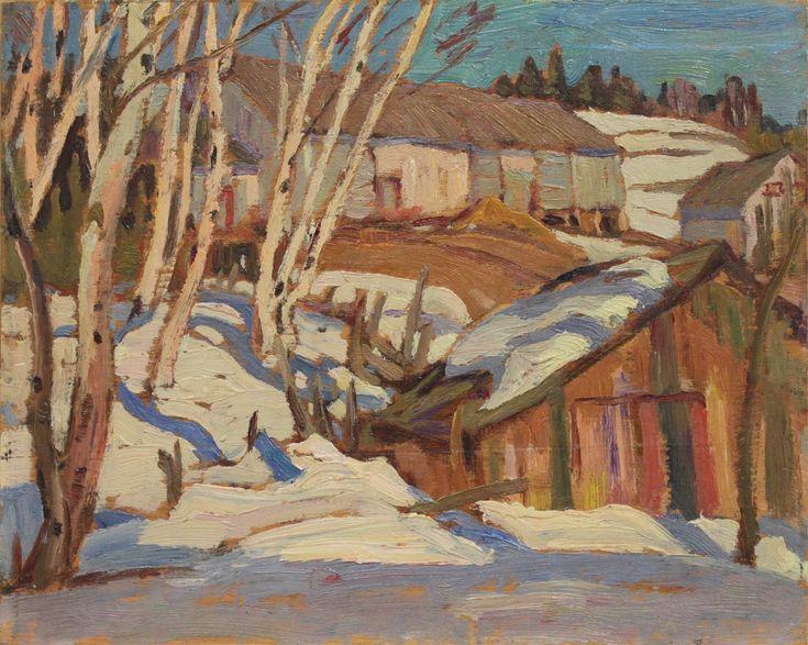 A.Y. Jackson - Les Eboulements Quebec 8.5 x 10.75 Oil on wood panel (1937)