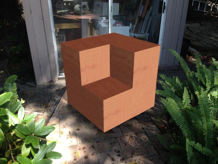 Necker Cube as seating!