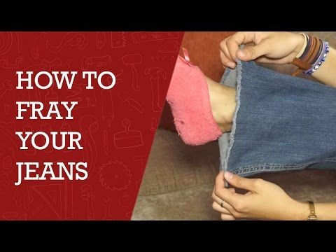 how to fray your jeans diy channel youtube