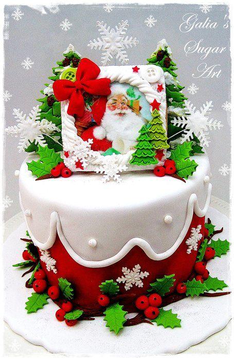 Small Christmas Cakes - by Galia Hristova @ CakesDecor.com - cake decorating website