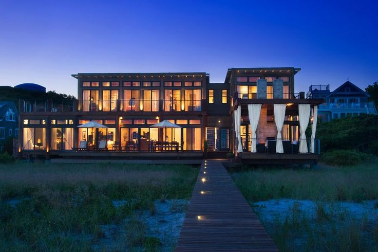 Provincetown, Massachusetts. Located on one of the most exclusive spots on Cape Cod, this award-winning contemporary beach house was built by Alexandria, Virginia–based architect Michael Winstanley to be his own vacation home.