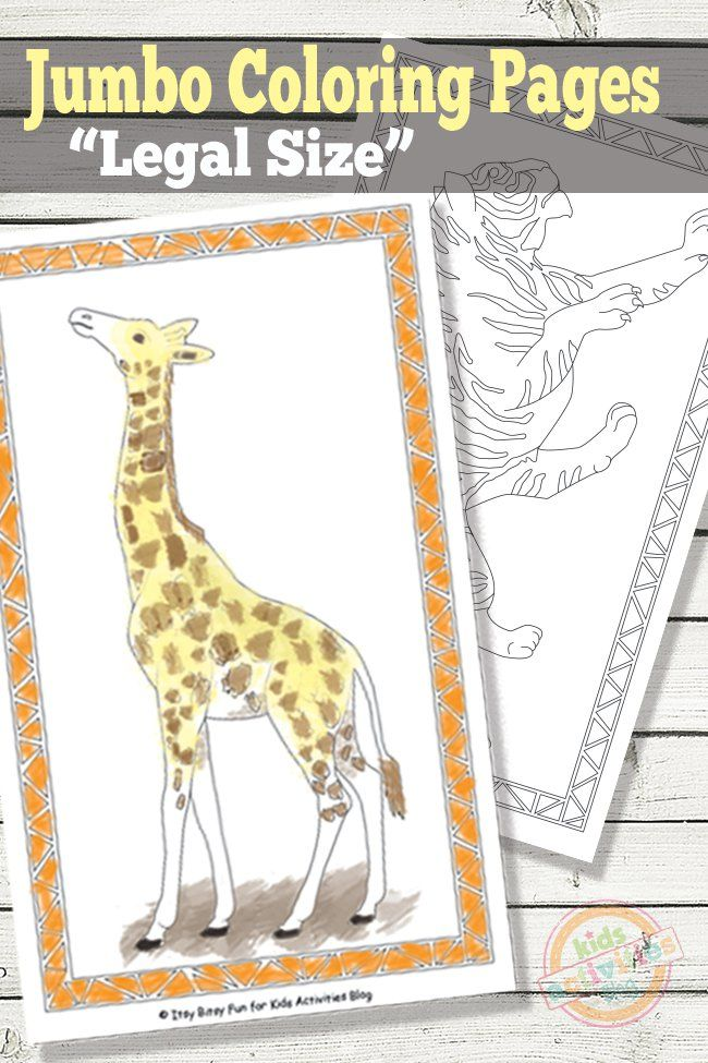 31 best coloring pages images on pinterest kid art art for Jumbo coloring pages